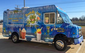 Shaved Ice Food Truck with frog logo